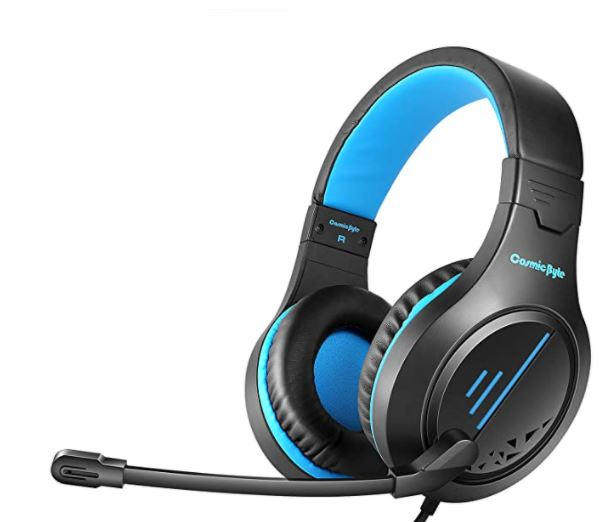 Cosmic Byte Blazar Headphone with Mic (Flexible) for PC, Mobiles, PS4, Xbox One, Tablets (Blue)