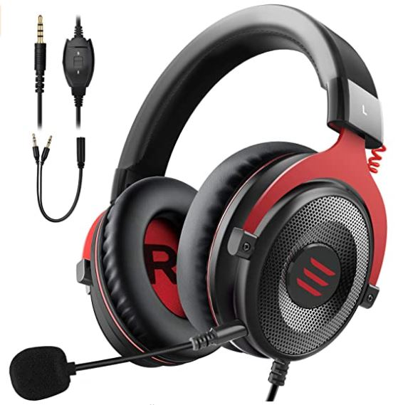 EKSA E900 Wired Stereo Gaming Headset with mic-Over Ear (Noise Canceling)